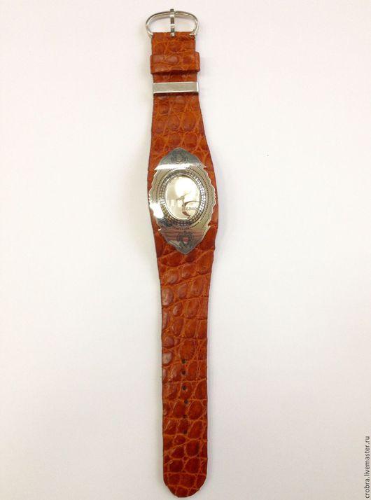 Часы ручной работы. Ярмарка Мастеров - ручная работа. Купить Заказной браслет ремешок сделанный под часы. Handmade. Рыжий