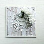 Открытки ручной работы. Ярмарка Мастеров - ручная работа подарочный набор на свадьбу (открытка + конверт для денег). Handmade.