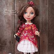 Куклы и игрушки ручной работы. Ярмарка Мастеров - ручная работа Кукла текстильная Настюша с объемным личиком.. Handmade.