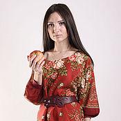 """Русский стиль ручной работы. Ярмарка Мастеров - ручная работа Платье """"Грушенька"""" красное. Handmade."""