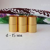 Магнитные колпачки, 15 мм внутренний диаметр, цвет золото