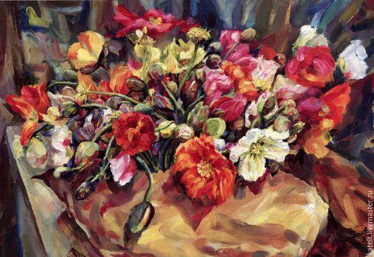 Картины цветов ручной работы. Ярмарка Мастеров - ручная работа. Купить Цветы. Handmade. Цветы, натюрморт, импрессионизм, flowers