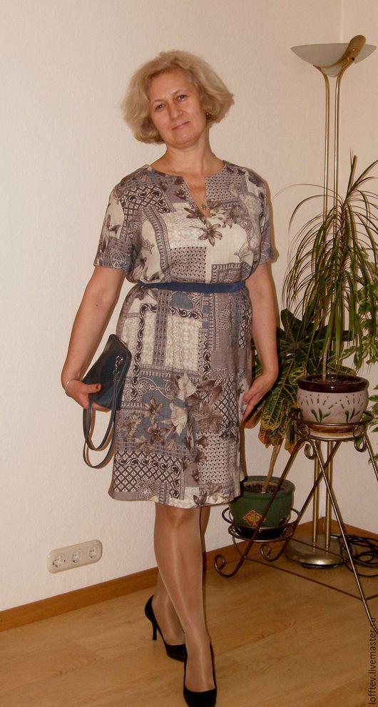Платья ручной работы. Ярмарка Мастеров - ручная работа. Купить Платье прямое шерстяное. Handmade. Бежевый, платье-туника