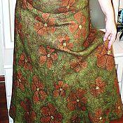 Одежда handmade. Livemaster - original item Skirt felted Flower field. Handmade.