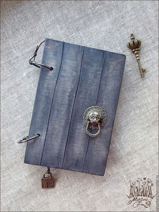 """Блокноты ручной работы. Ярмарка Мастеров - ручная работа. Купить Блокнот """"Старинная дверь"""". Handmade. Темно-серый, старинная дверь"""
