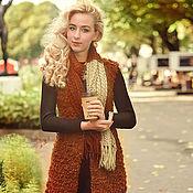 """Одежда ручной работы. Ярмарка Мастеров - ручная работа Жилет и брошь """"Рыжая осень"""". Handmade."""
