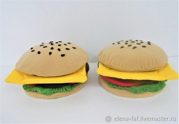 """Реквизит """"Гамбургер и  БлэкБургер"""", Мягкие игрушки, Таганрог,  Фото №1"""