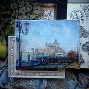 """Картины и панно ручной работы. Ярмарка Мастеров - ручная работа Картина """"Венеция. Вид на Санта Лючия"""".. Handmade."""