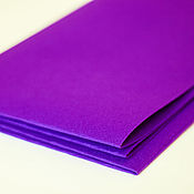 Материалы для творчества ручной работы. Ярмарка Мастеров - ручная работа Фетр ярко-фиолетовый жесткий 1,2 мм Корея полиэстер. Handmade.