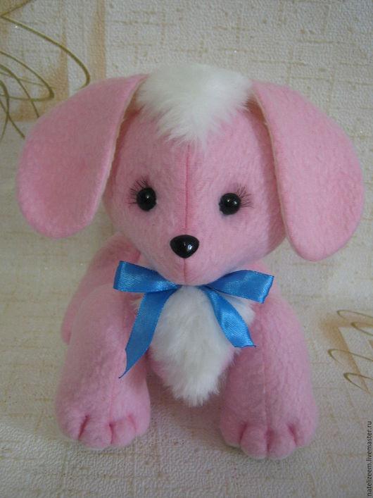 Игрушки животные, ручной работы. Ярмарка Мастеров - ручная работа. Купить текстильная мягкая игрушка собачка. Handmade. Розовый, собака