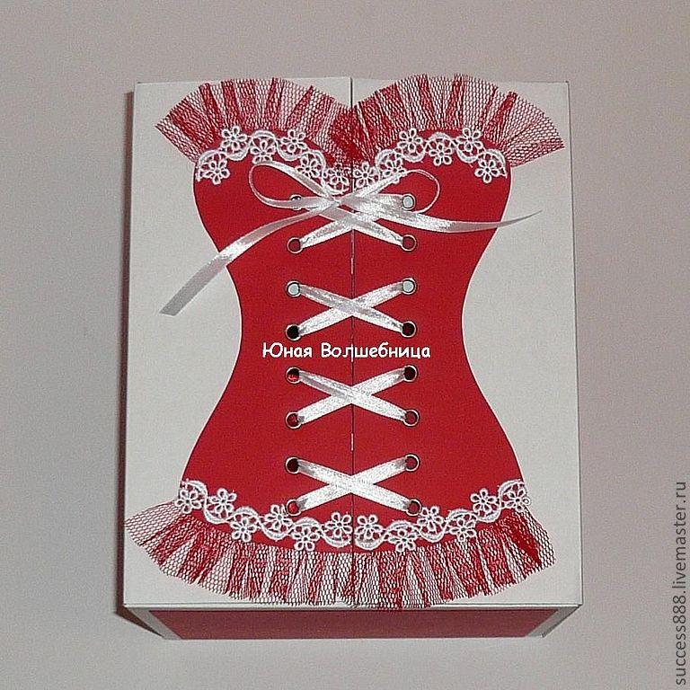 Корсет платья на открытку