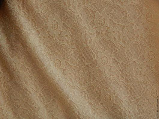 Шитье ручной работы. Ярмарка Мастеров - ручная работа. Купить -15% Ткань итальянская, гипюр на трикотажной основе. Handmade. Золотой