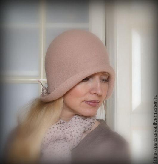 """Шляпы ручной работы. Ярмарка Мастеров - ручная работа. Купить Дамская шляпка-клош """"Аврора"""". Handmade. Кремовый, ручная работа"""
