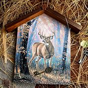 """Ключницы ручной работы. Ярмарка Мастеров - ручная работа Ключница-домик """"Хранитель леса"""". Handmade."""