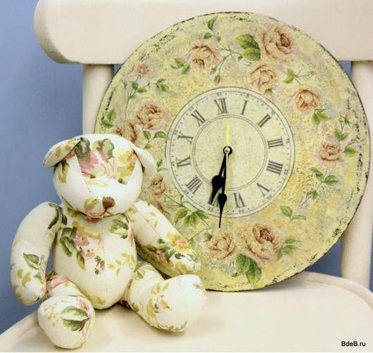 """Часы для дома ручной работы. Ярмарка Мастеров - ручная работа. Купить Подарочный набор """"Прованс"""". Handmade. Часы, авторские мишки"""