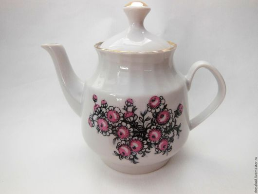 Винтажная посуда. Ярмарка Мастеров - ручная работа. Купить Чайник  заварочный Рига  фарфор. Handmade. Фарфор, чашка, СССР, чайник