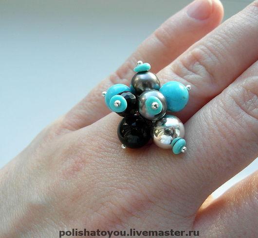 """Кольца ручной работы. Ярмарка Мастеров - ручная работа. Купить Серебряное кольцо """"Магия"""". Handmade. Кольцо, кольцо с бирюзой"""