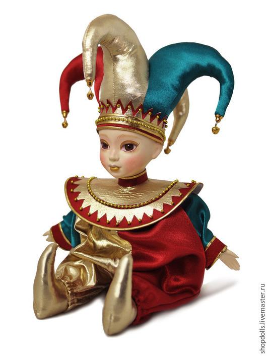 Коллекционные куклы ручной работы. Ярмарка Мастеров - ручная работа. Купить Кукла арлекин четырёхрогий русский. Handmade. Арлекин, зеленый