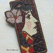 Украшения ручной работы. Ярмарка Мастеров - ручная работа Девушка с цветком. Handmade.