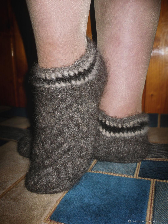 Women's knitted slippers Mist, Socks, Klin,  Фото №1