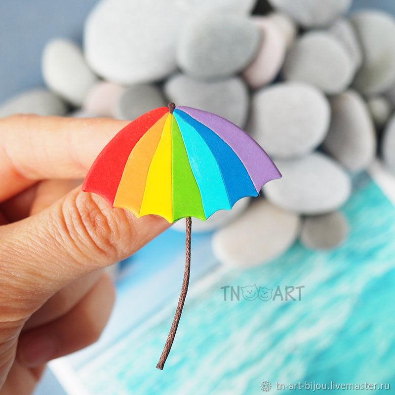Brooch 'rainbow umbrella', Brooches, Sochi,  Фото №1