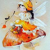 """Картины ручной работы. Ярмарка Мастеров - ручная работа Картина маслом """"Лесной ангелочек"""".. Handmade."""