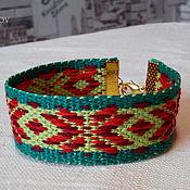 Русский стиль handmade. Livemaster - original item Bracelet woven Alatyr. Handmade.