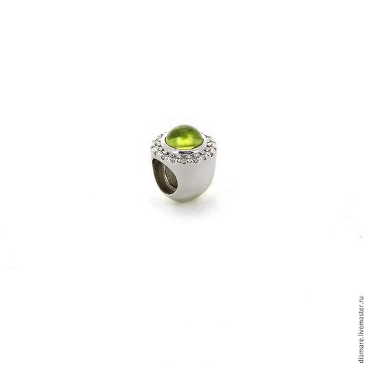 Серебряный шарм `Нефритовая корона`.  Арт. 05-01272