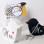 """Свадебный салон ручной работы. Ярмарка Мастеров - ручная работа Интерьерные птички """"Семья"""". Handmade."""