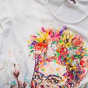 Одежда ручной работы. Ярмарка Мастеров - ручная работа футболка весенняя Фрида. Handmade.