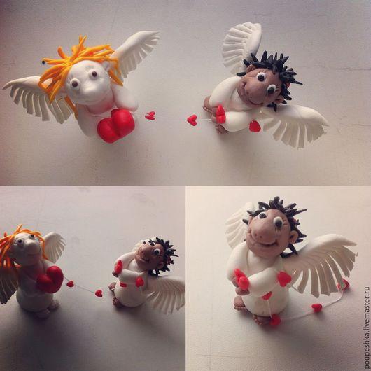 Миниатюрные модели ручной работы. Ярмарка Мастеров - ручная работа. Купить Ангел-хранитель, Ангелочек. Handmade. Комбинированный, ангелок, оберег
