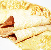 Аксессуары ручной работы. Ярмарка Мастеров - ручная работа Берет шарф варежки комплект валяный золотой с флисом. Handmade.