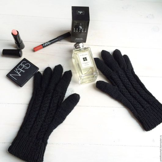 """Варежки, митенки, перчатки ручной работы. Ярмарка Мастеров - ручная работа. Купить Перчатки """"Чёрная ночь"""". Handmade. Перчатки"""
