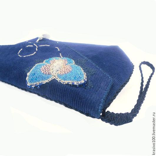 Сумки для ноутбуков ручной работы. Ярмарка Мастеров - ручная работа. Купить Сумка для планшета стильнй клатч Бабочки синий. Handmade.
