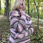 Одежда handmade. Livemaster - original item Convertible cardigan womens knitted hooded from sectional yarn. Handmade.