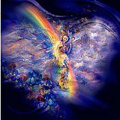 """Одежда ручной работы. Ярмарка Мастеров - ручная работа Платье из шелка""""Девушка и радуга"""". Handmade."""