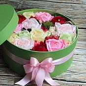 """Букеты ручной работы. Ярмарка Мастеров - ручная работа Букет из конфет в шляпной коробке """"Сладкий привет"""". Handmade."""