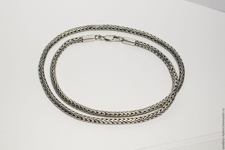 Плетение цепочек из серебра лисий хвост