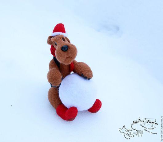 Игрушки животные, ручной работы. Ярмарка Мастеров - ручная работа. Купить Эрдель и Новый год. Handmade. Эрдельтерьер, новогодний сувенир, кардочёс