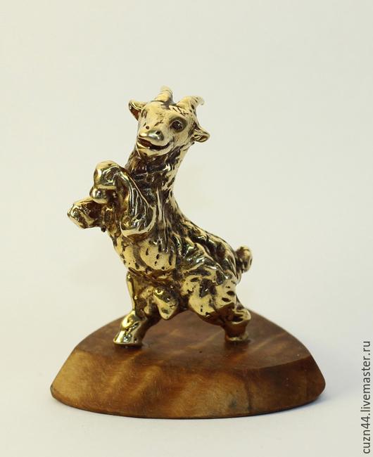 Миниатюрные модели ручной работы. Ярмарка Мастеров - ручная работа. Купить Козел. Handmade. Символ года, сувенир, латунь, козел