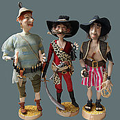 Куклы и игрушки ручной работы. Ярмарка Мастеров - ручная работа Бармалей и его команда. Handmade.