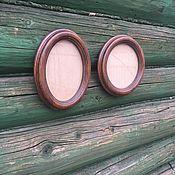 Фоторамки ручной работы. Ярмарка Мастеров - ручная работа Овальные и круглые фоторамки из массива дуба. Handmade.