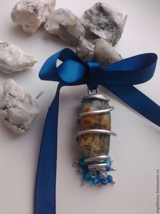 """Кулоны, подвески ручной работы. Ярмарка Мастеров - ручная работа. Купить Кулон """"Вечность"""". Handmade. Синий, бисер, подвеска"""