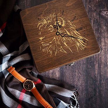 Для дома и интерьера ручной работы. Ярмарка Мастеров - ручная работа Шкатулка для мужских часов на 4 отделений. Handmade.