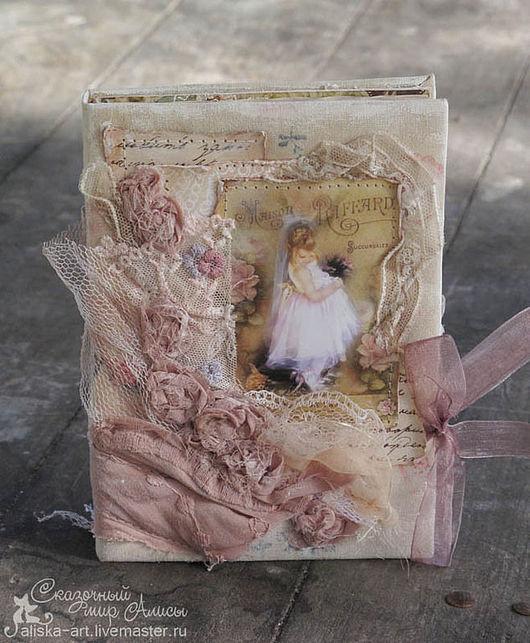 Блокноты ручной работы. Ярмарка Мастеров - ручная работа. Купить Блокнот нежный, романтичный, чердачный. Handmade. Кремовый, романтичный, кружево