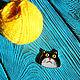"""Броши ручной работы. Витражная брошь ручной работы """"Толстый кот"""". Art Brothers. Ярмарка Мастеров. Толстый кот"""