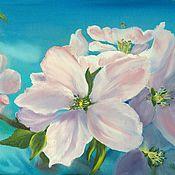 Картины и панно ручной работы. Ярмарка Мастеров - ручная работа Картина маслом Яблоневый цвет. Handmade.