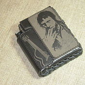 Сумки и аксессуары handmade. Livemaster - original item Cigarette case (sigaretta). Vysotsky. Handmade.