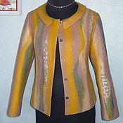 "Одежда ручной работы. Ярмарка Мастеров - ручная работа Жакет валяный ""Саванна"". Handmade."