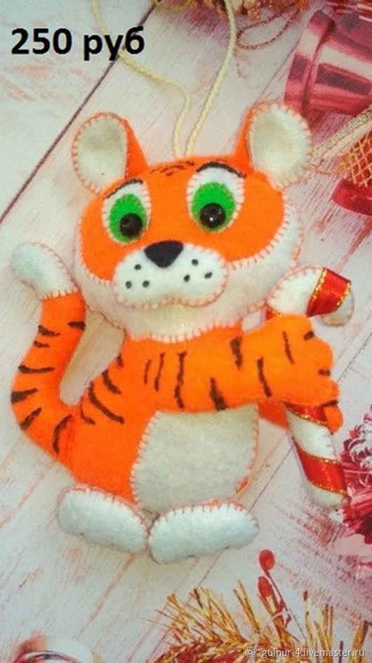 Символ 2022 года, тигр из фетра, Мягкие игрушки, Белебей,  Фото №1